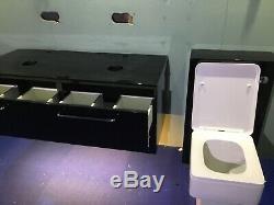 Wall Hung Double Basin Unit & Toilet Unit