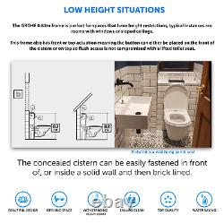 Wall Hung RIMLESS Toilet with GROHE Low Height 0.82m Concealed WC Cistern Frame