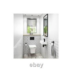Wall Hung Rimless Toilet with Slim Soft Close Seat Santiago