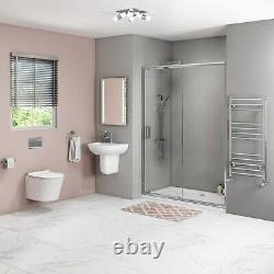 Wall Hung Rimless Toilet with Soft Close Seat and Grohe Wall Hanging Frame New