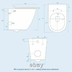 Wall Hung Toilet Back to Wall Rimless Designed Pan and Soft Close Seat Elen
