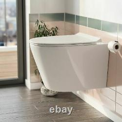 Wall Hung Toilet Back to Wall Rimless Designed Pan and Soft Close Seat Elliss