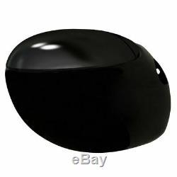 Wall Hung Toilet & Bidet Set Black Ceramic S6D4