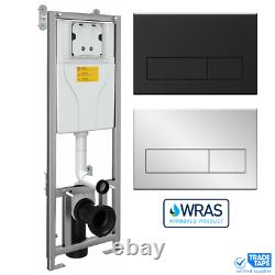 Wall Hung Toilet Dual Flush Concealed Cistern WC Frame Unit & Push Plate WRAS