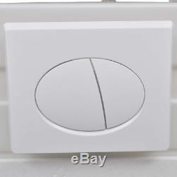 Wall Hung Toilet Egg Design with Concealed Cistern White Height-adjustable White