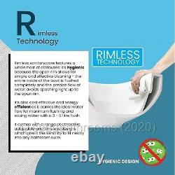 Wall Hung Toilet WC Pan Rimless With Frame Options