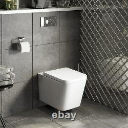 Wall Hung Toilet with Soft Close Seat Evan
