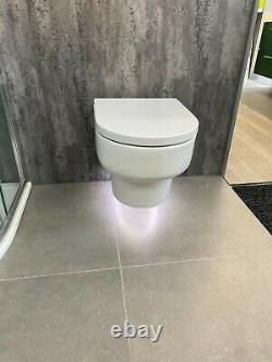 Wall hung WC with soft close seat