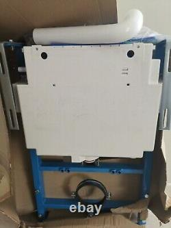 Wall hung toilet and frame