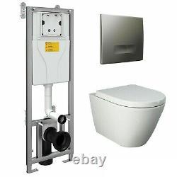 Wc Frame Unit + Rak Resort Ceramics Rimless Wall Hung Toilet Pan Soft Close Seat