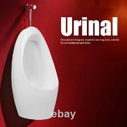 White Ceramic Wall Hung Urinal with Flush Valve Wall-mounted Flushing